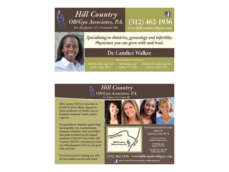 hill country ob gyn keywords graphic design marketing ad advertising medical practice. Black Bedroom Furniture Sets. Home Design Ideas