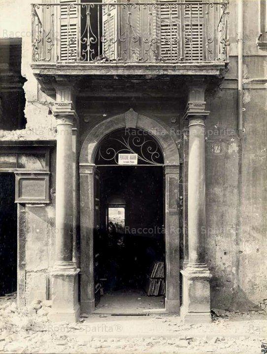 Roma Sparita - Foro di Traiano - Via Alessandrina n.87 (demolita)