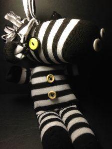 DIY: Ein Zebra aus Socken