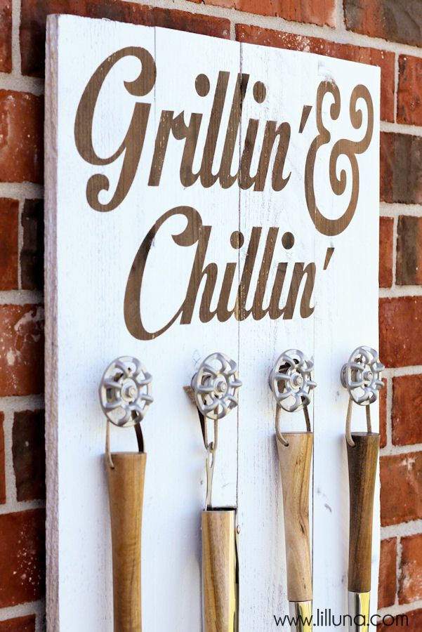 grillin and chillin sign 7 for the home pinterest. Black Bedroom Furniture Sets. Home Design Ideas