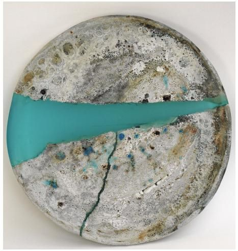 Tamsyn Trevorrow, Resin and ceramic plate - Looks like you can fix a broken plate with a contrasting color of resin