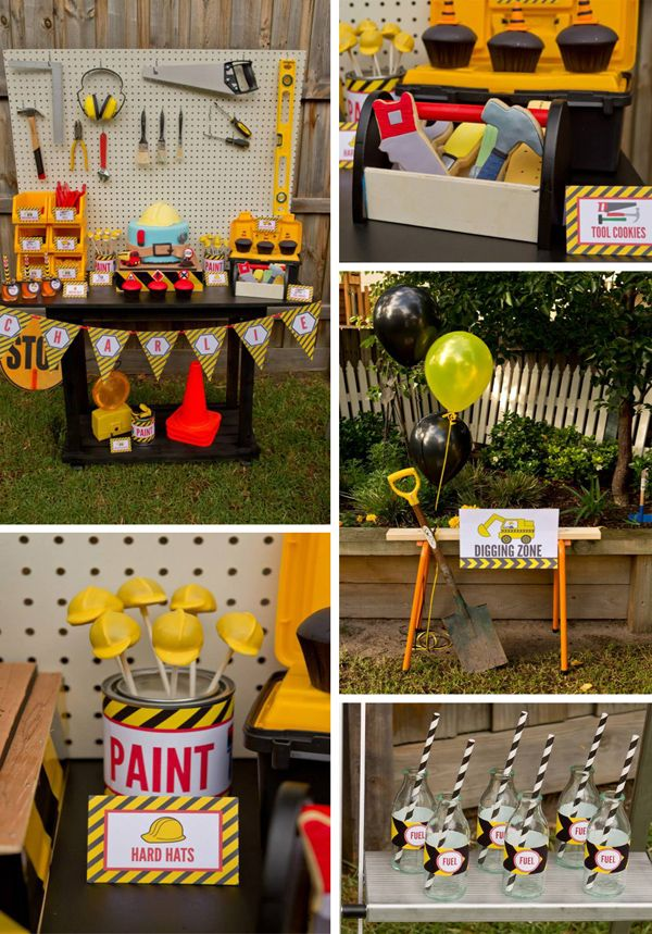 Construction Birthday Photo Ideas | Construction Birthday Party with LOTS of FUN Ideas via Kara's Party ...