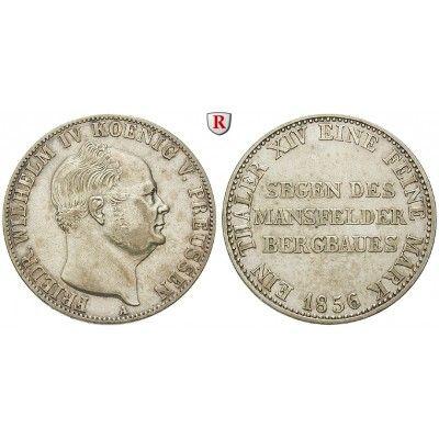 Brandenburg-Preussen, Königreich Preussen, Friedrich Wilhelm IV., Ausbeutetaler 1856, ss: Friedrich Wilhelm IV. 1840-1861.… #coins