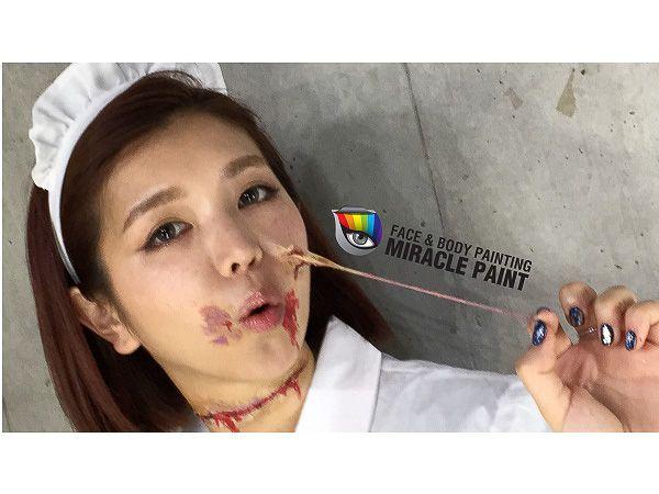 ハロウィン仮装の無料フェイスペイントサービス、東急ハンズ渋谷店前に開設の画像