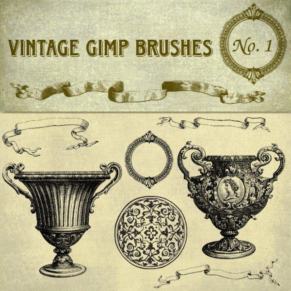 Vintage Gimp Brushes – Set 1 | Starsunflower Studio Blog