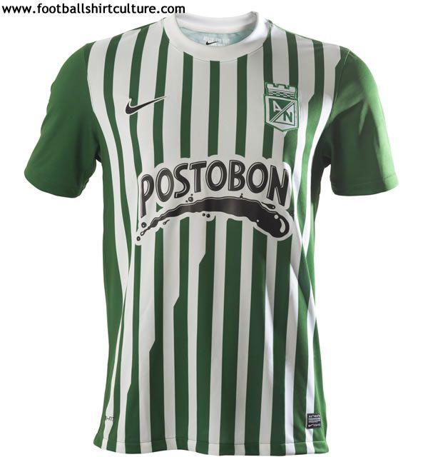 Atletico Nacional 13/14 nike home football shirts