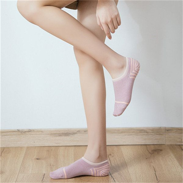 Women Breathable Cotton Invisible Socks Summer Sweat Dry Ankle Socks online - NewChic