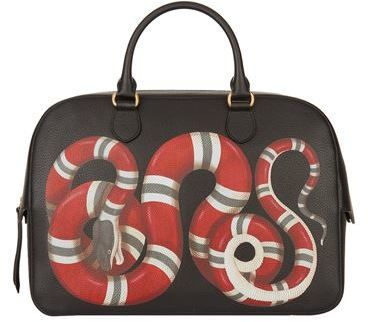 Gucci Leather Snake Briefcase