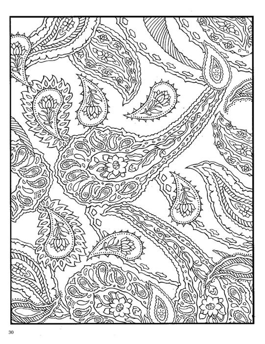 paisley design coloring pages animals - Paisley Designs Coloring Book