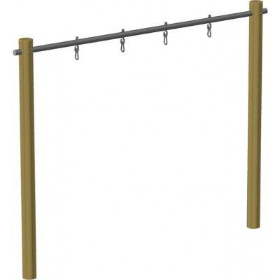 Schaukelgestell Holz-Schaukel Doppelschaukel mit Stahlrohr