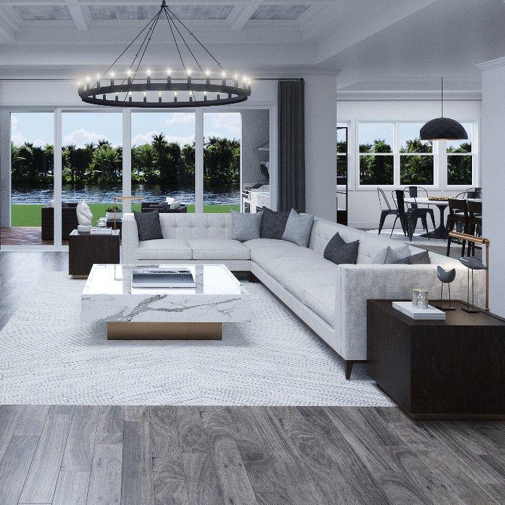 White Leather Sectional Sofa Best Living Room Decor Ideas 3d Rendering Interiordesign Sofa Decor Ho Living Room Decor Leather Sectional Sofa Room Decor