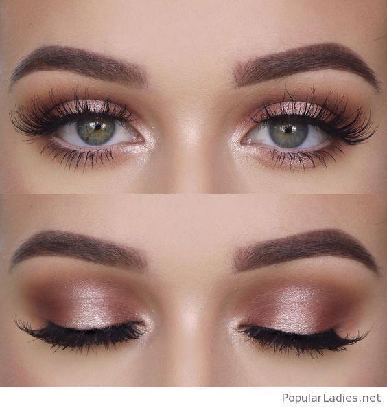 Natürliches Make-up für grüne Augen, ich liebe es