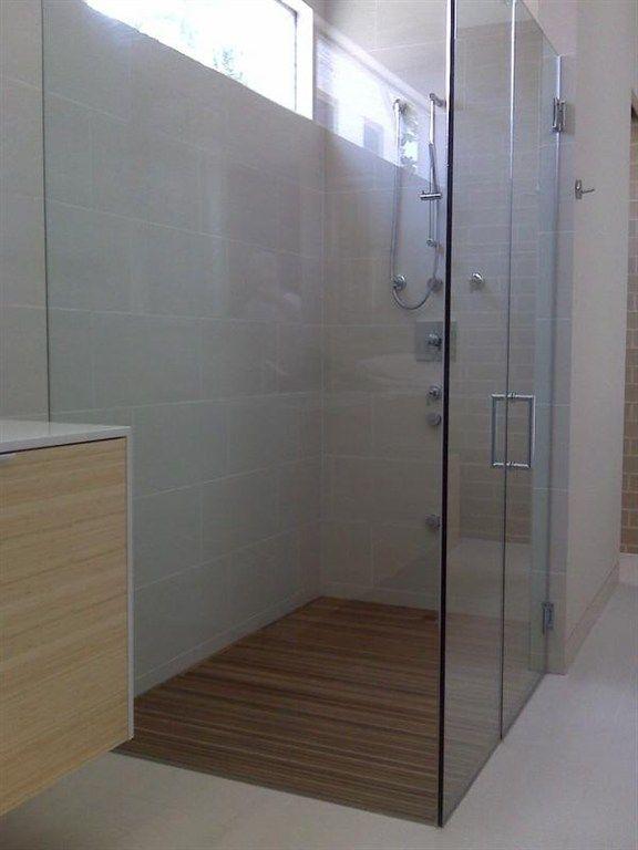 Curbless Frameless Shower | Home - Bathroom Ideas | Pinterest