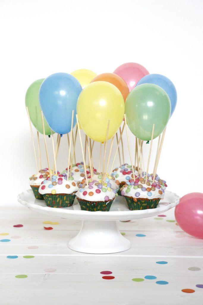 Heissluftballon Muffins Rezept Kindergeburtstag Rezepte Muffins