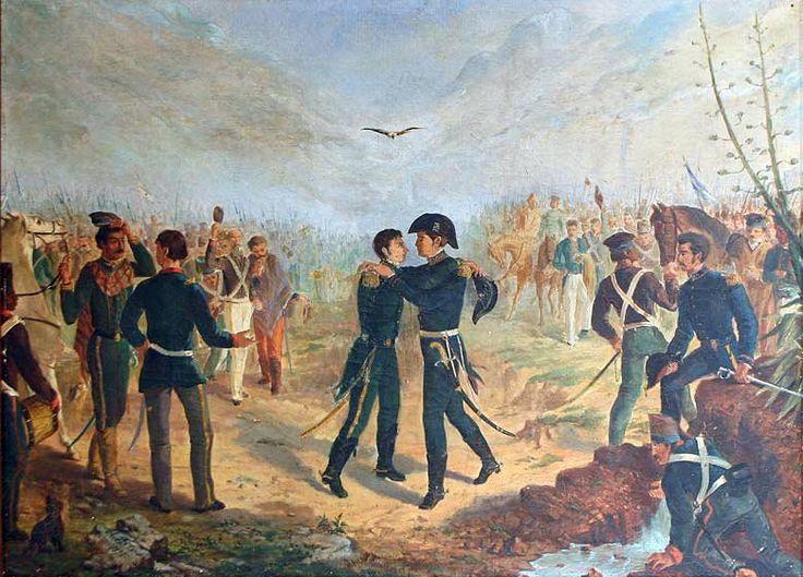 Encuentro de San Martín y Manuel Belgrano, en la Posta de Yatasto, 1814, Augusto Ballerini