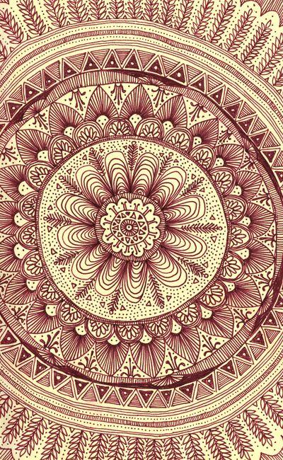 Mandala Maroon by Yes Menu