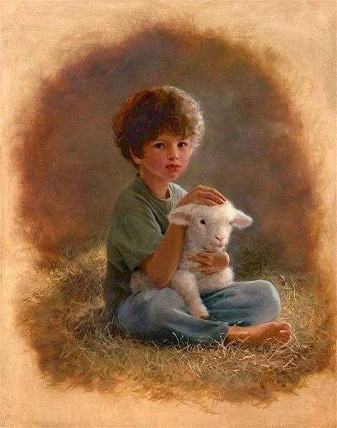 "The Little Shepherd...""The Lord is my shepherd, I shall not want.  He maketh me to lie down in green pasture, he leadeth me beside the still water.  He restoreth my soul.....Psalms 23"