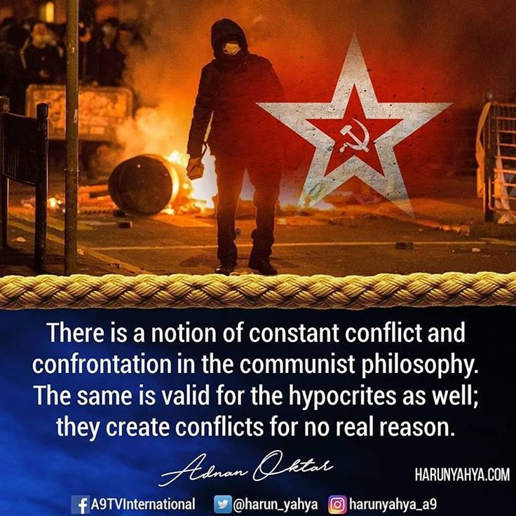 There is a notion of constant conflict and confrontation in the communist philosophy. The same is valid for the #hypocrites as well; they create conflicts for no real reason.. #tv #broadcast en.a9.com.tr #islam #God #quran #Muslim #books #adnanoktar #istanbul #islamicquote #quote #love #Turkey #art#artistic #fashion #music #luxury#travel #nature #photoshoot #photooftheday #worldwide #london #newyork #washington