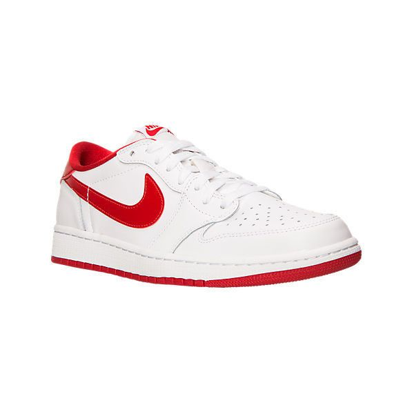 Nike Men's Air Jordan Retro 1 Low OG Basketball Shoes (1.736.990 IDR) ❤ liked on Polyvore featuring men's fashion, men's shoes, white, mens white high tops, mens low top basketball shoes, nike mens shoes, mens low top shoes and mens sneakers