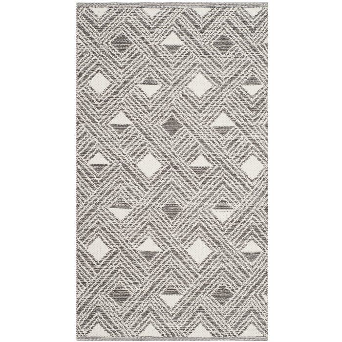 Tribal Area Rug Nate Berkus: Aragam Handwoven Cotton Charcoal/Ivory Area Rug In 2019