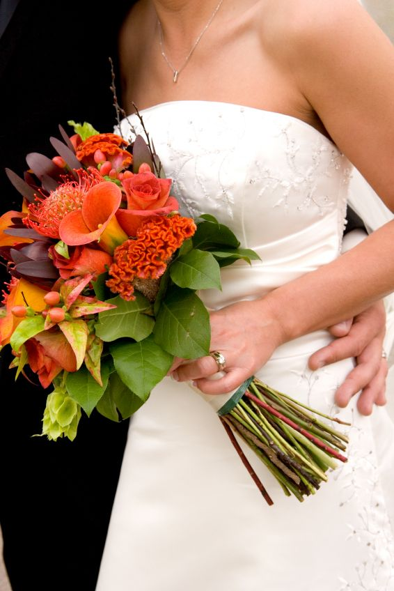 This wedding bouquet is perfect for the october wedding