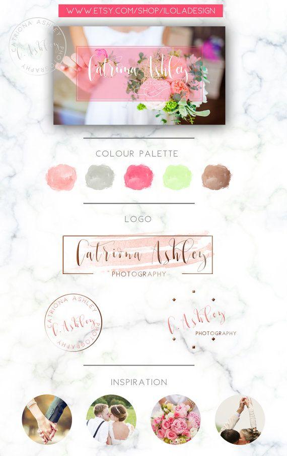 Photography Logo Branding Kit  Wedding Photographer by iloladesign
