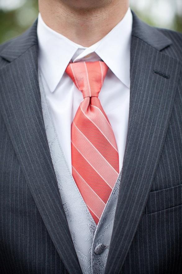 coral ties nikkie s wedding