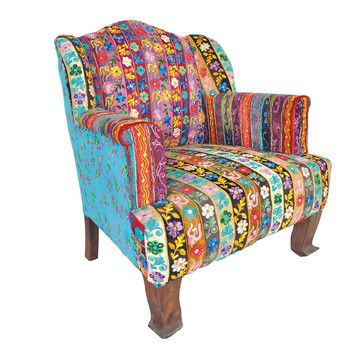 Karma Living: Velvet Floral Chair, at 66% off!