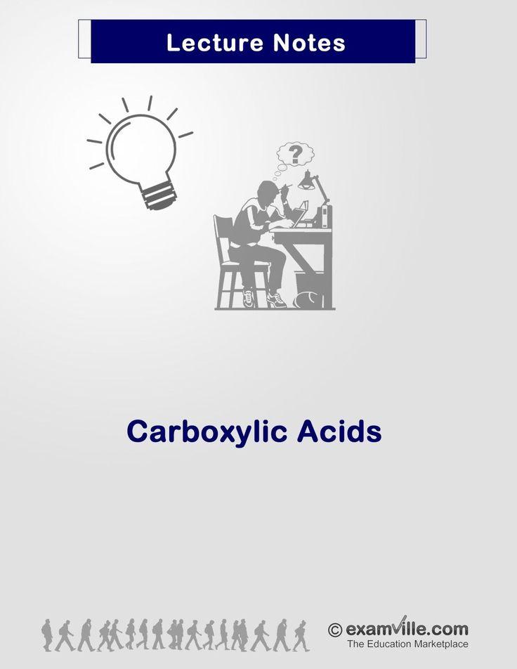 CARBOXYLIC ACID - Organic Chemistry Review. http://www.Examville.com - The Education Marketplace. #chemistry  #MCAT #organicchemistry #nursing #school  #ebooks #premed #testprep #freedownloads #education #health #review #study #examville