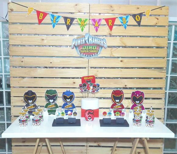 Compre Kit Festa Power Rangers no Elo7 por R  160 9b6c7159f577e