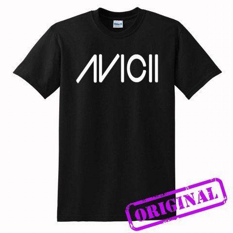Avicii+for+shirt+black,+tshirt+black+unisex+adult