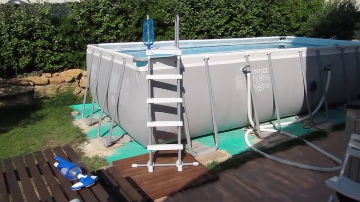 Aspirateur Intex, nettoyage de ma piscine ultra frame rectangulaire