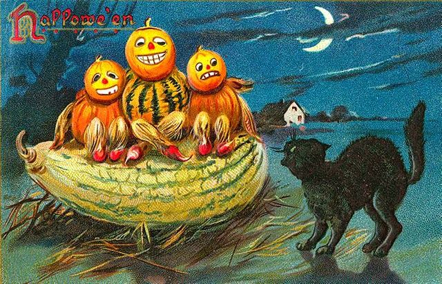vintage everyday: 25 Strange and Creepy Vintage Halloween Postcards
