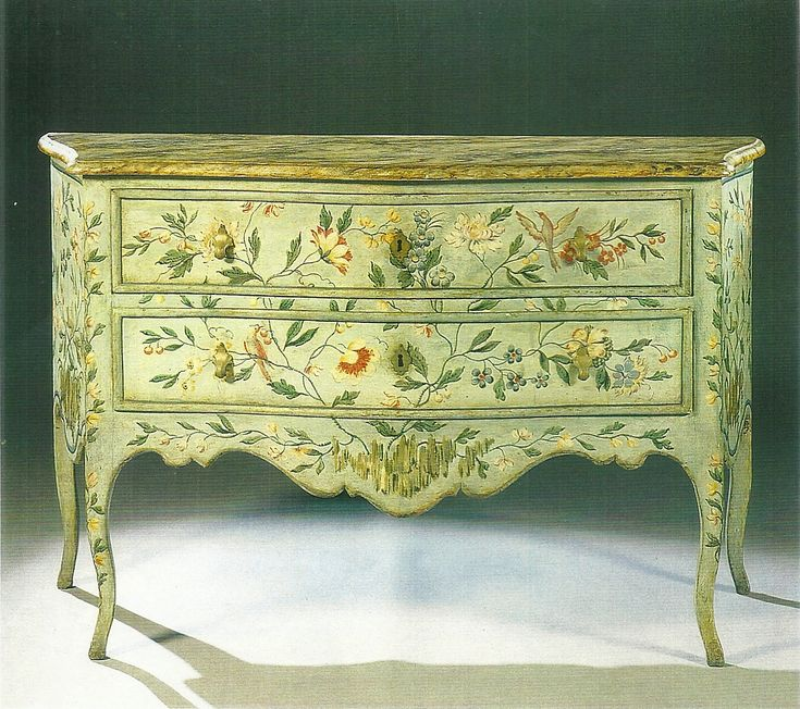 decorative painted chest/comoda