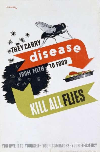 Abram Games flies carry disease poster