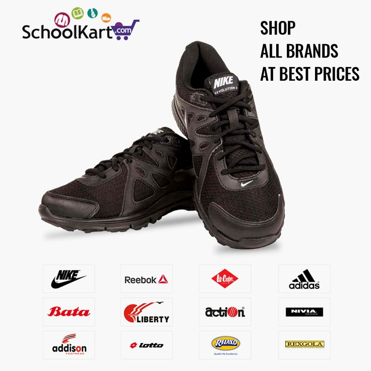 Get a wide variety of shoes for sports, gym, school at best prices from