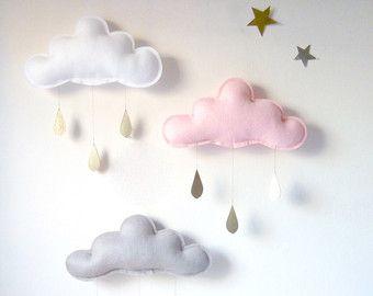 3 x lluvia primavera caprichosas nubes móviles por leptitpapillon