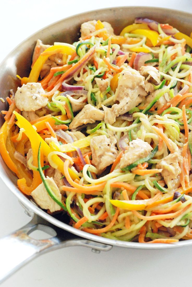 Whole30 Dinner Recipes: Thai Chicken With Spicy Peanut Sauce