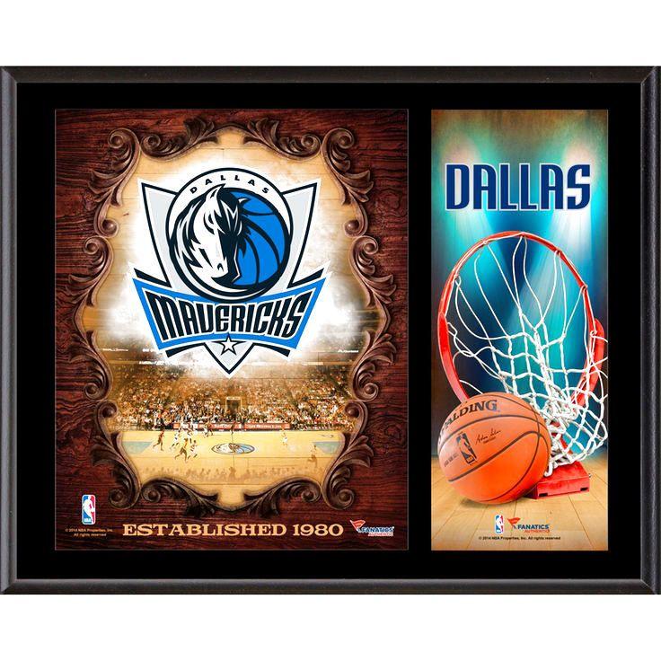 "Dallas Mavericks Fanatics Authentic 12"" x 15"" Sublimated Team Logo Plaque - $39.99"