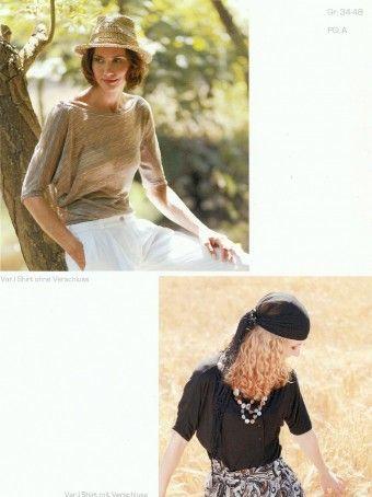 Pattern Company 06-603 asymmetrisch gesneden shirt, twee varianten