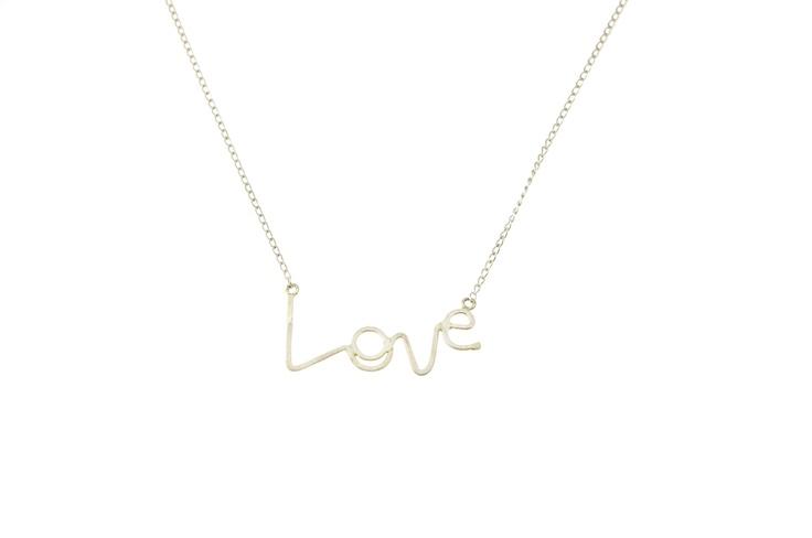 Sam Ubhi - Sterling Silver Handwritten 'Love' Necklace