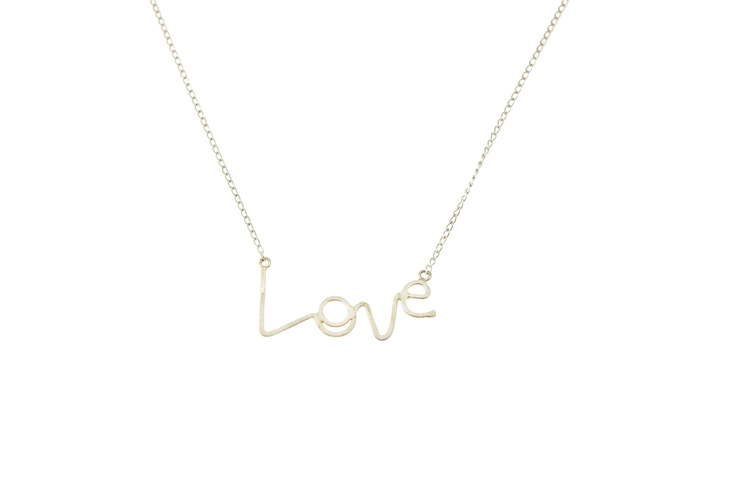 Sam Ubhi - Sterling Silver Handwritten 'Love' Necklace