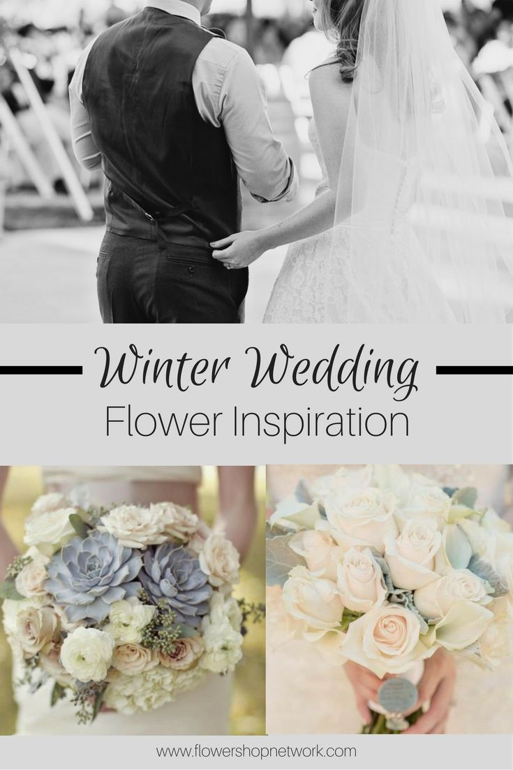 Be inspired with these beautiful winter wedding flower arrangements and bouquets! #winterwedding #weddingflowers #inspiration