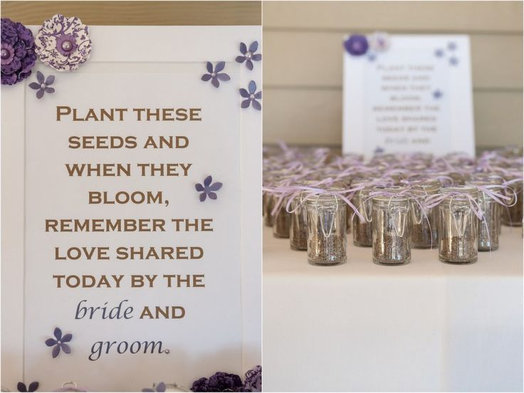 Seed planting wedding favors. Lavender Rustic Wedding by Holly Frazier Photography - KnotsVilla