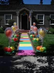 O tema da festa começa na entrada da casa! #aniversarioinfantil