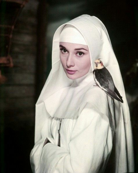 "Audrey in my favorite role--Sister Luke in ""The Nun Story"""