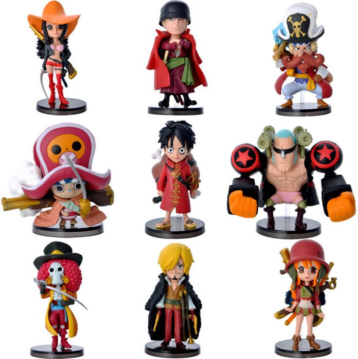 9pcs Mini One Piece Figure Luffy //Price: $29.00 & FREE Shipping //     #onepiece #onepieceanime #dluffystore