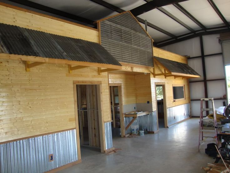 Man Cave Garages Not An Exterior Looking Rustic Garage But The Inside Offic