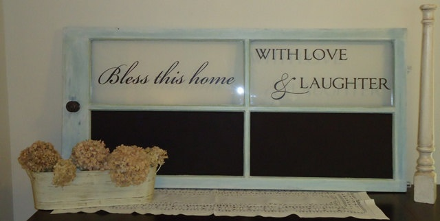 Saying or quote above ~ chalkboard paint below