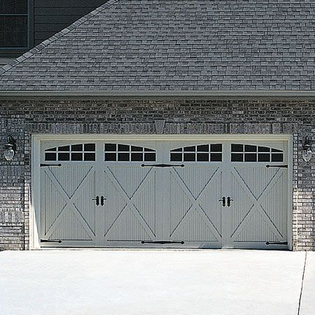 Carriage style garage doors for the home pinterest for Carriage type garage doors